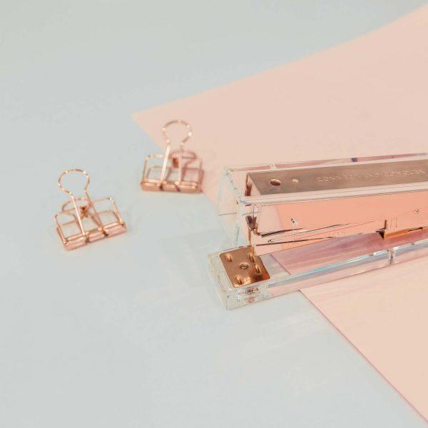 rose gold stapler